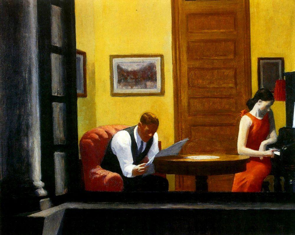 Room in New York, Edward Hopper